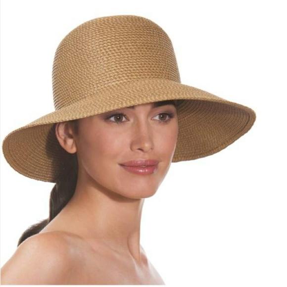 eb92ca17743 Eric Javits Accessories - NWOT Eric Javits Natural Squishee Wide Brim Hat